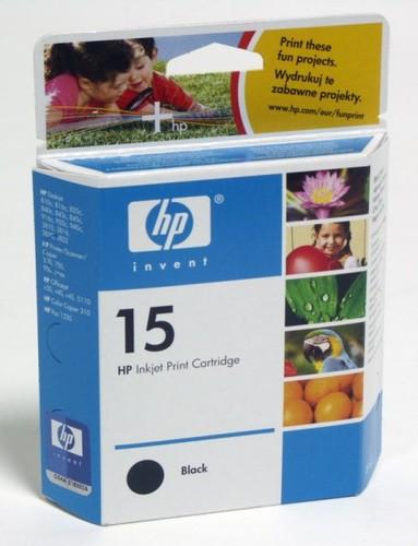 Картридж струйный HP 15 C6615DE черный (500стр.) для HP DJ 840C/3820