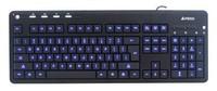 Клавиатура A4 KD-126-1 черный USB slim Multimedia LED