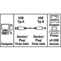 Кабель Hama H-34694 00034694 USB A(m) USB B(m) 1.5м