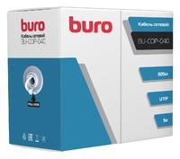 Кабель сетевой Buro UTP 4 пары cat5E solid 0.40мм Cu 305м серый