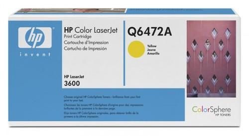 Картридж лазерный HP Q6472A желтый (4000стр.) для HP CLJ 3600/CP3505/P2014