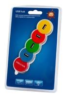 Разветвитель USB 2.0 PC Pet Snake 4порт. разноцветный