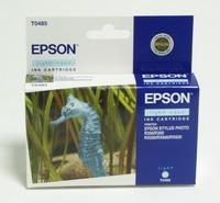 Картридж струйный Epson T0485 C13T04854010 светло-голубой (13мл) для Epson St Ph R200/300/500/600
