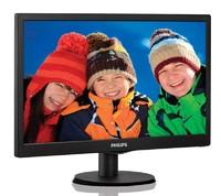 "Монитор Philips 19.5"" 203V5LSB26 (10/62) черный TN+film LED 5ms 16:9 матовая 200cd 1600x900 D-Sub 2.33кг"