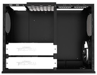 Корпус Fractal Design Node 605 черный w/o PSU ATX 2x120mm 2xUSB3.0 1xIEEE1394 audio CardReader front door bott PSU