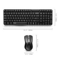 Клавиатура + мышь Rapoo X1800 клав:черный мышь:черный USB беспроводная