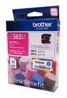 Картридж струйный Brother LC563M пурпурный (600стр.) для Brother MFC-J2510