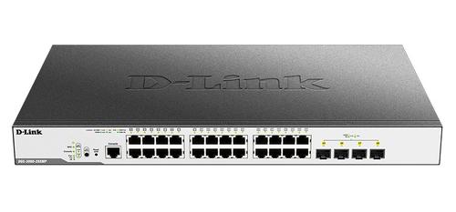 Коммутатор D-Link DGS-3000-28XMP DGS-3000-28XMP/B1A 24G 4SFP+ 24PoE+ 370W управляемый