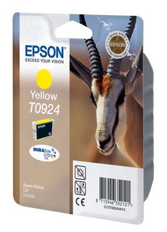 Картридж струйный Epson T0924 C13T10844A10 желтый (5.5мл) для Epson C91/CX4300