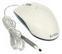 Мышь A4 OP-720 белый оптическая (800dpi) USB (2but)
