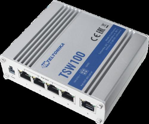 Teltonika TSW100 - промышленный гигабитный PoE коммутатор