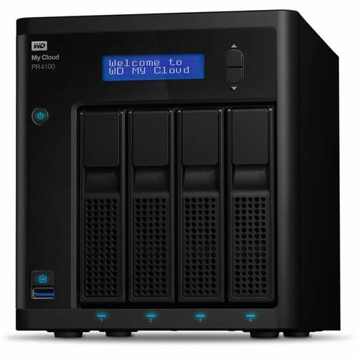 Сетевое хранилище NAS WD Original 24Tb WDBKWB0240KBK-EEUE MY CLOUD PR4100 4xDisk 4-bay