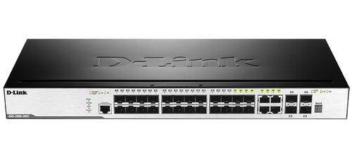 Коммутатор D-Link DGS-3000-28SC/A1A 4G 20SFP 4SFP+ управляемый