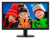 "Монитор Philips 23.6"" 243V5LSB (00/01) черный TN+film LED 5ms 16:9 DVI матовая 250cd 1920x1080 D-Sub FHD 3.66кг"