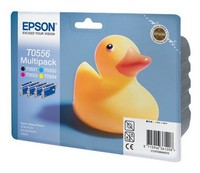 Картридж струйный Epson T0556 C13T05564010 4цв. набор карт. для Epson R240/RX420/RX520