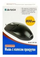 Мышь A4 OP-720 черный оптическая (800dpi) PS/2 (2but)