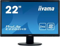 "Монитор Iiyama 21.5"" ProLite E2282HS-B1 черный TN+film LED 1ms 16:9 DVI HDMI M/M матовая 250cd 170гр/160гр 1920x1080 D-Sub FHD 3кг"