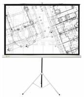 Экран Cactus 127x127см Triscreen CS-PST-127X127 1:1 напольный рулонный белый