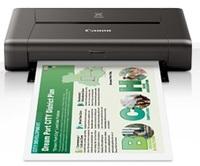 Принтер струйный Canon Pixma IP110 (9596B029) A4 WiFi USB черный (в комплекте: батерея)
