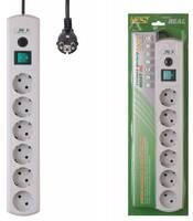 Сетевой фильтр Most RG 2м (6 розеток) белый (коробка)