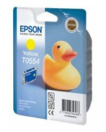 Картридж струйный Epson T0554 C13T05544010 желтый (8мл) для Epson R240/RX420/RX520