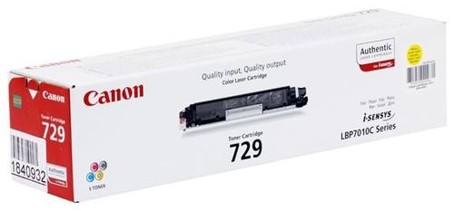 Тонер Картридж Canon 729Y 4367B002 желтый (1000стр.) для Canon i-Sensys LBP-7010C/7018C