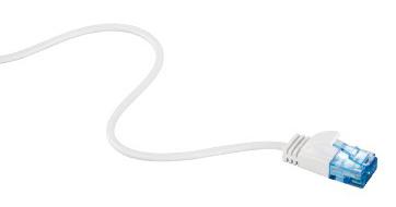 Патч-корд Hama Slim-Flexible UTP 4 пары cat6 1.5м белый RJ-45 (m)-RJ-45 (m)