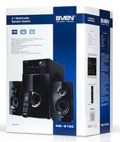 Колонки Sven MS-2100 2.1 черный 80Вт