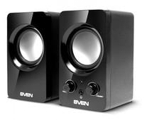 Колонки Sven 354 2.0 черный 4Вт