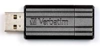 Флеш Диск Verbatim 8Gb PinStripe 49062 USB2.0 черный