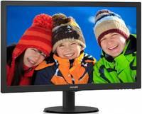 "Монитор Philips 23.6"" 243V5LSB5 (00/01) черный TN LED 5ms 16:9 DVI матовая 250cd 1920x1080 D-Sub FHD 3.42кг"