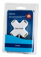 Разветвитель USB 2.0 PC Pet Сross 4порт. белый