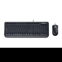 Клавиатура + мышь Microsoft Wired 600 клав:черный мышь:черный USB проводнойMultimedia