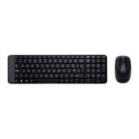 Клавиатура + мышь Logitech MK220 клав:черный мышь:черный USB беспроводная