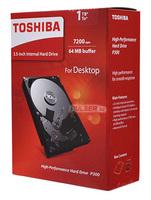 "Жесткий диск Toshiba SATA-III 1Tb HDWD110EZSTA P300 (7200rpm) 64Mb 3.5"" Rtl"