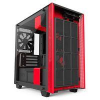 Корпус NZXT H400I черный/красный без БП mATX 3x120mm 2xUSB3.0 audio bott PSU