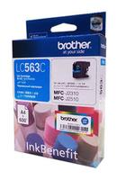 Картридж струйный Brother LC563C голубой (600стр.) для Brother MFC-J2510