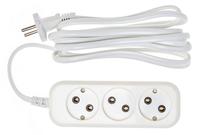 Сетевой удлинитель Buro BU-PSL3.3/W 3м (3 розетки) белый (пакет ПЭ)