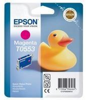 Картридж струйный Epson T0553 C13T05534010 пурпурный (8мл) для Epson R240/RX420/RX520