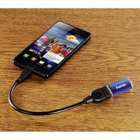 Адаптер Hama 00078426 microUSB B (m) USB A(m) 0.15м черный блистер
