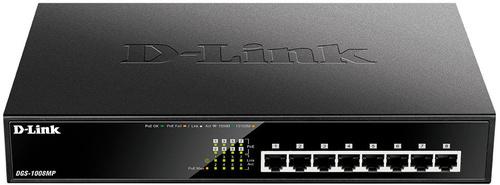 Коммутатор D-Link DGS-1008MP/B1A 8G 8PoE 125W неуправляемый