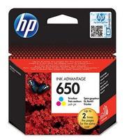 Картридж струйный HP 650 CZ102AE многоцветный (200стр.) для HP DJ IA 2515/2516