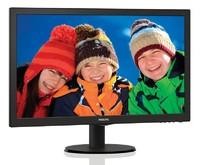 "Монитор Philips 23.6"" 243V5LSB (10/62) черный TN+film LED 16:9 матовая 1000:1 250cd 1920x1080 D-Sub FHD 3.66кг"