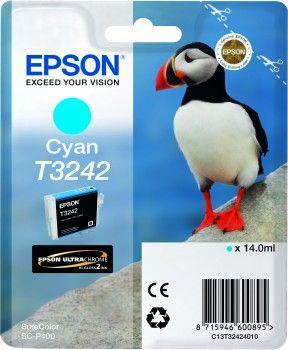 Картридж струйный Epson T3242 C13T32424010 голубой (14мл) для Epson SureColor SC-P400