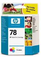 Картридж струйный HP 78 C6578D многоцветный для HP DJ 9xxC/DJ3820/6122/6127/PS1xxx