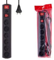 Сетевой фильтр Most LR 3м (6 розеток) черный (коробка)