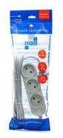 Сетевой удлинитель Powercube PC-Y-1-05-1,5 1.5м (5 розеток) серый (пакет ПЭ)
