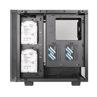 Корпус Thermaltake View 21 TG черный без БП ATX 5x120mm 3x140mm 2xUSB3.0 audio bott PSU