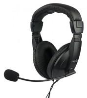 Наушники с микрофоном Oklick HS-M137V черный 1.8м мониторы оголовье