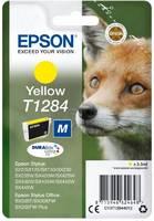 Картридж струйный Epson T1284 C13T12844012 желтый (3.5мл) для Epson S22/SX125